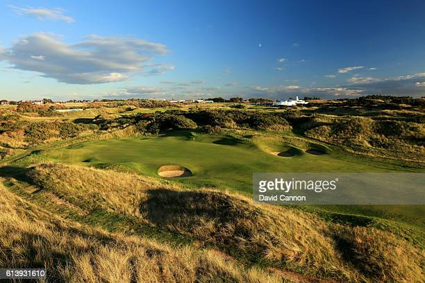 A view of the green on the 457 yards par 4 eighth hole at Royal Birkdale Golf Club the host course for the 2017 Open Championship on October 10 2016...