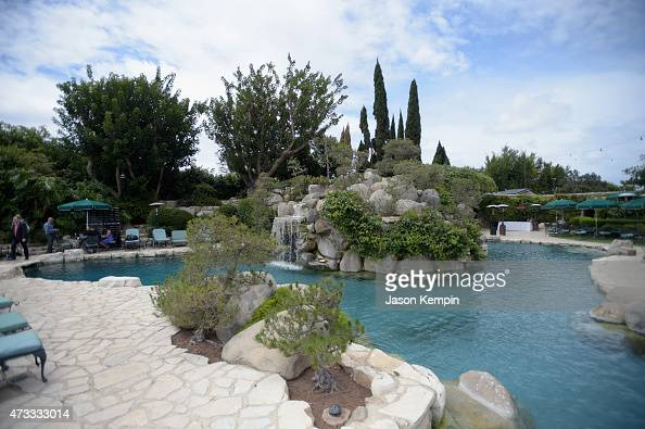A view of the grotto during Playboy's 2015 Playmate of the Year Ceremony at the Playboy Mansion on May 14 2015 in Los Angeles California