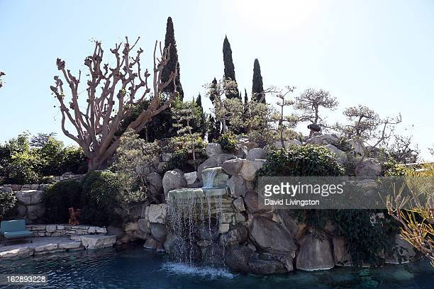 A view of the Grotto is seen at the 35th Anniversary Playboy Jazz Festival news conference at the Playboy Mansion on February 28 2013 in Beverly...