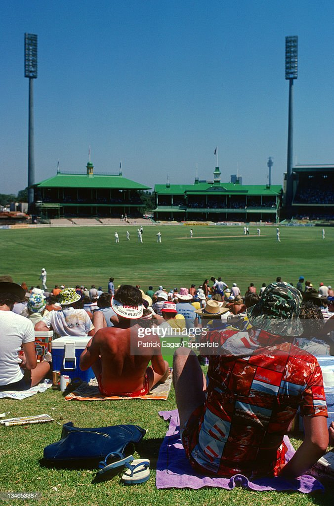 View of the ground from the Hill Australia v England 4th Test Sydney January 197879