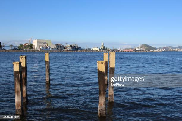 View of the Guanabara Bay in the central region of Rio de Janeiro Early fall in Rio de Janeiro Brazil is marked by a sunny day with pleasant...