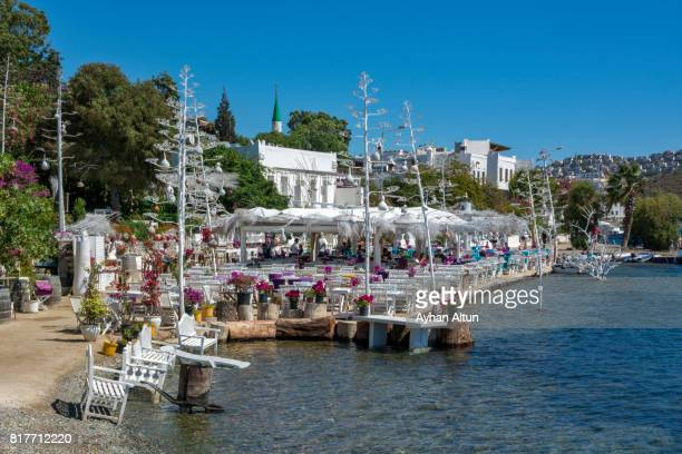 View of The Gumusluk seaside small village in Bodrum,The Aegean Coast,Turkey