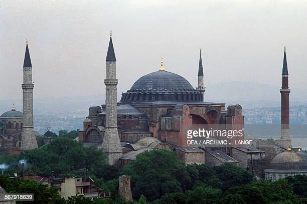 View of the Hagia Sophia Istanbul Turkey 6th century