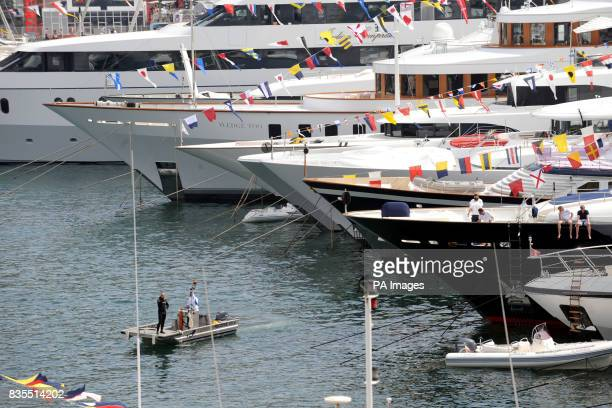 A view of the harbour in Monaco France