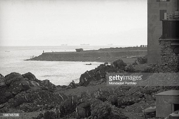 View of the harbour Viareggio 1960s