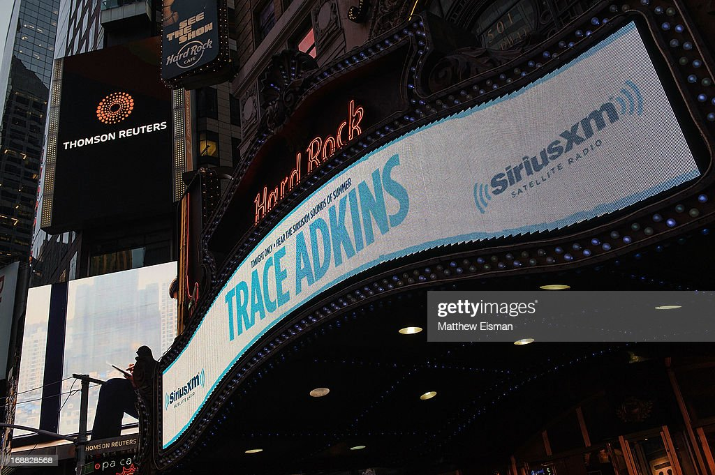 A view of the Hard Rock Cafe's marquee during 'SirusXM Sounds Of Summer' Series at Hard Rock Cafe New York on May 15, 2013 in New York City.