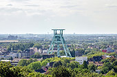 View of the Headframe in Bochum, Germany, cityscape