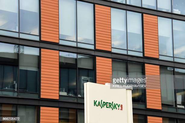 A view of the headquarters of Kaspersky Lab Russia's leading antivirus software development company in Moscow on October 25 2017 / AFP PHOTO / Kirill...