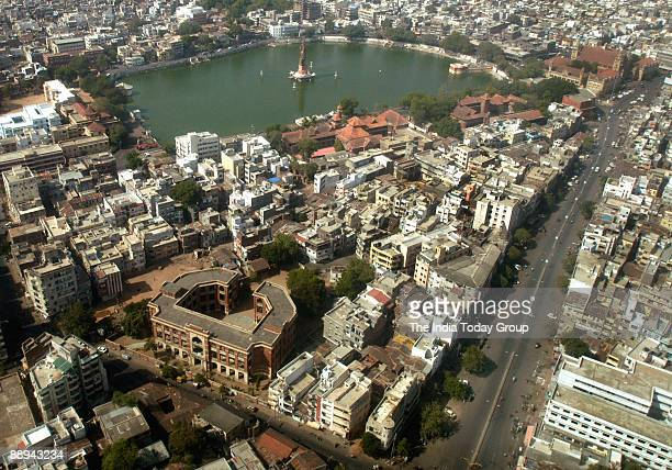 View of the heritage and old city area of Ahmedabad Gujarat India