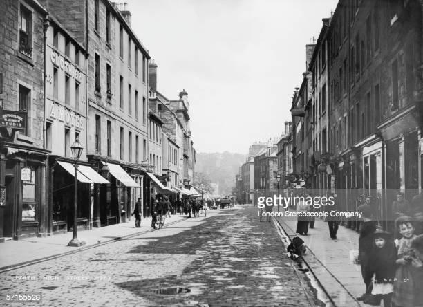 A view of the High Street Perth Scotland circa 1890