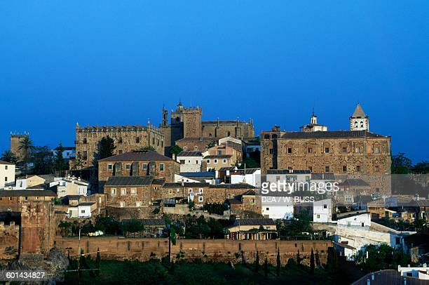 View of the historic centre of Caceres Extremadura Spain