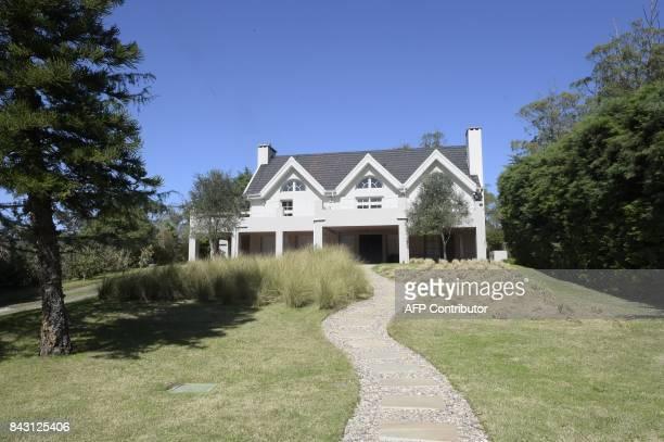 View of the home of Italian mafia boss Rocco Morabito in the Uruguayan resort town of Punta del Este on September 5 2017 Rocco Morabito of the...