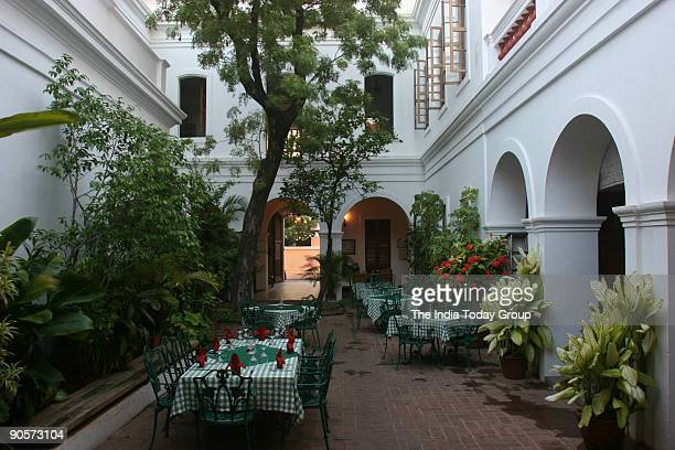 View of the Hotel Le duplex in Pondicherry India