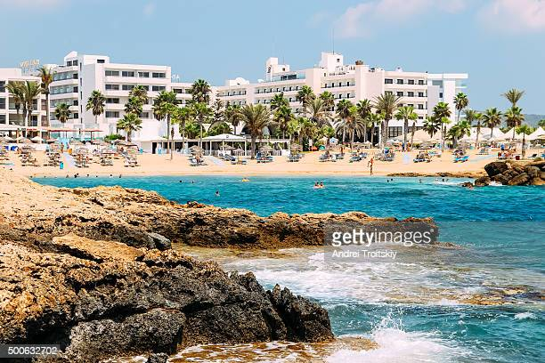 View of the hotels near the beach, Cyprus