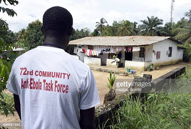 A view of the house in the Liberian capital Monrovia on October 3 where a man infected with the Ebola virus was living prior to traveling to the USA...