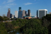 A view of the Houston skyline during the afternoon on March 26 2013 in Houston Texas