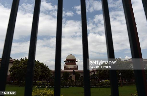 A view of the Indian Supreme Court in New Delhi on July 28 2015 India's Supreme court refered Yakub Memon's petition against his death sentence for...
