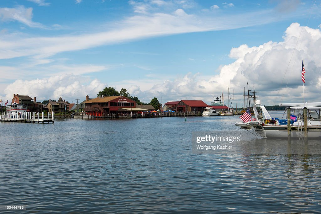 View of the Inner Harbor of St Michaels a historic town in Maryland USA situated on Chesapeake Bay