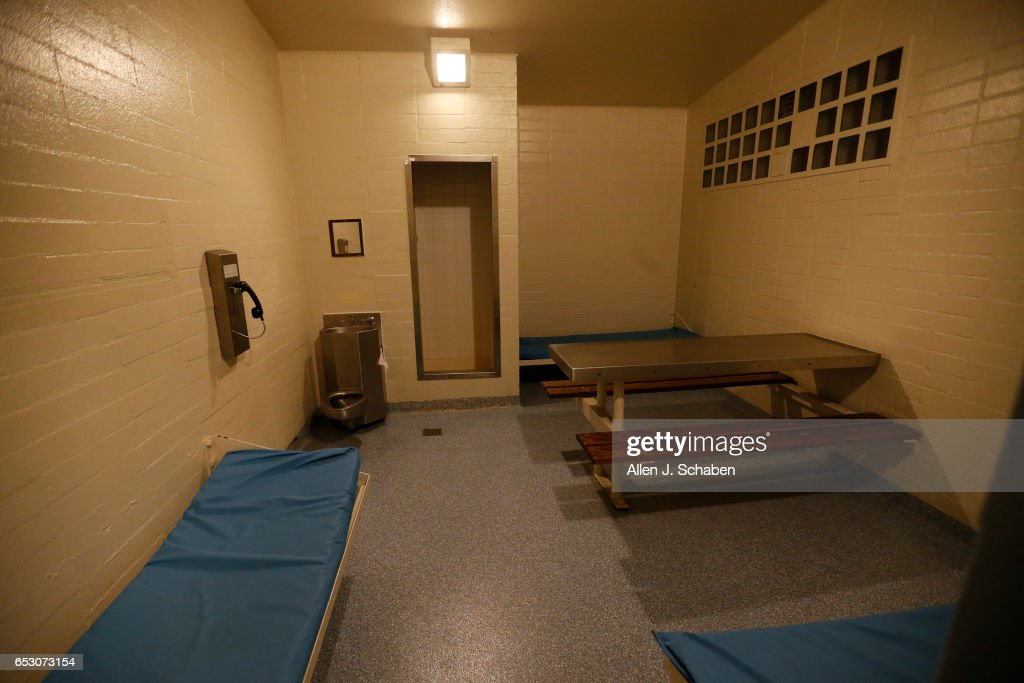 A view of the inside of a Hermosa Beach jail. Hermosa Beach pay-to-stay jail ranks as the priciest of Southern California's pay per night jail cells at $251 a night. Hermosa is one of 26 pay to stay jail facilities around Southern California. A joint project by The Times and the Marshall Project reviewed 3500 defendants who paid to stay between 2011-2015 and found many convicted of violent and sexual crimes. Photo taken Tuesday, Nov. 29, 2016.