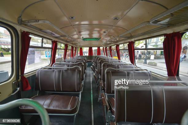 A view of the inside of Jelcz 043 a popular 'cucumber' bus produced from 1959 to 1986 under the license of Czechoslovak Skoda On Tuesday April 26 in...
