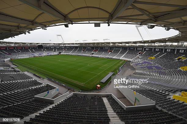 A view of the inside of Stadium Municipal on February 9 2016 in Toulouse France