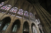A view of the inside of the basilica in SaintDenis France on May 9 2013 AFP PHOTO / FRANCOIS GUILLOT