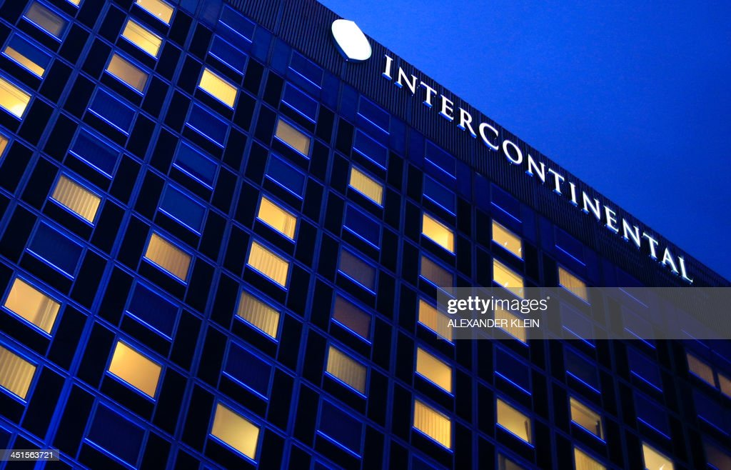 View of the Intercontinental Hotel at dusk during talks over Iran's nuclear programme in Geneva on November 23 2013 Hopes soared for a breakthrough...