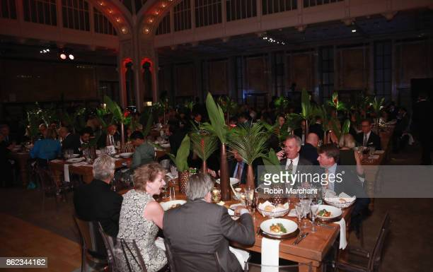 A view of the interior at the Ernesto Illy International Coffee Award gala at New York Public Library on October 16 2017 in New York City