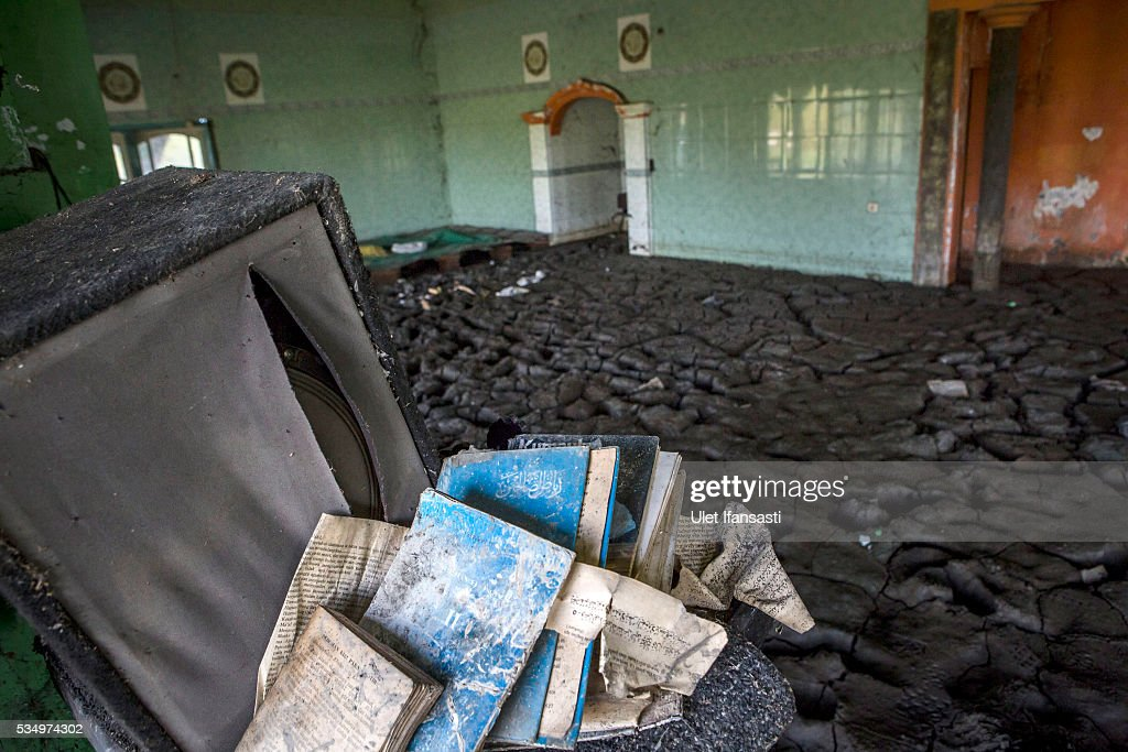 A view of the interior of a mosque destroyed by mudflow on May 27, 2016 in Sidoarjo, East Java, Indonesia. Residents of villages that were damaged by the Sidoarjo mudflow and residents received compensation, after almost ten years, from the Indonesian oil and gas company, PT Lapindo Brantas. The mudflow eruption is suspected to have been triggered by the drilling activities of oil and gas company, though they refute the claims, instead blaming a 6.3 magnitude earthquake that struck a neighboring city two days before the mudflow eruption. The earthquake struck Yogyakarta on May 27th, 2006, a city 150 miles west of a drill site in Sidoarjo, two days before the mudflow eruption. According to reports, twenty lives were lost and nearly 40,000 people displaced, with damages topping $2.7 billion. Ten years since the eruption, the mud geysers continue to spurt daily and high levels of heavy metals have been detected in nearby rivers.