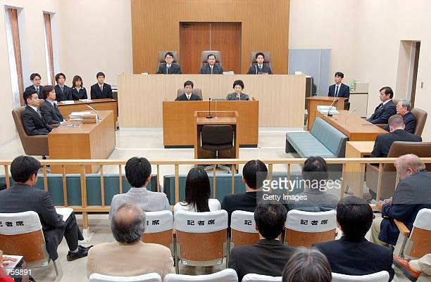 A view of the interior of The Naha District Court where a trial is held for charges against US Air Force staff Sgt Timothy Woodland March 28 2002 on...