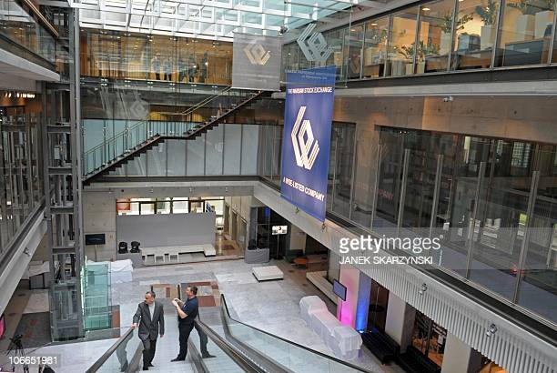 A view of the Interior of Warsaw Stock Exchange in Warsaw on November 9 2010 Warsaw Stock Exchange shares jumped when they were launched on Tuesday...