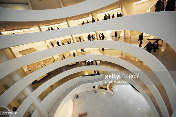 A view of the interior walkways May 14 2009 at the Guggenheim Museum in New York as the museum marks its 50th anniversary with an exhibition 'Frank...