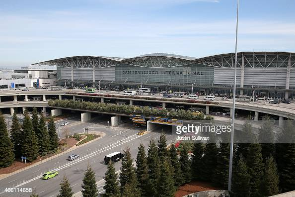 A view of the international terminal at San Francisco International Airport on March 13 2015 in San Francisco California According to a passenger...