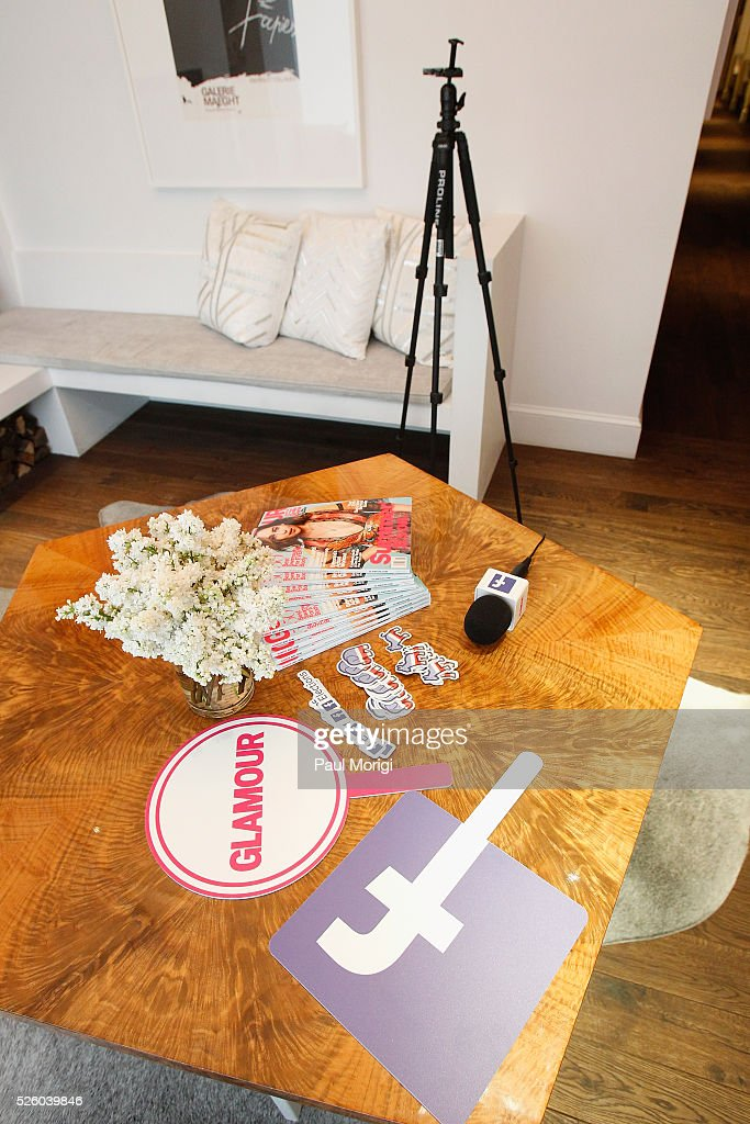 A view of the interview room at the Glamour and Facebook brunch to discuss sexism in 2016, during WHCD Weekend at Kinship on April 29, 2016 in Washington, DC.