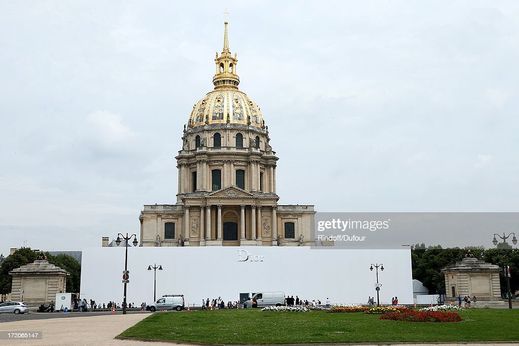 View of the Invalides where there was the Christian Dior show as part of Paris Fashion Week Haute-Couture Fall/Winter 2013-2014 at on July 1, 2013 in Paris, France.