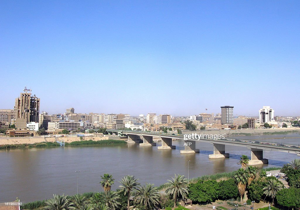 A view of the Iraqi capital Baghdad and the Tigris River which runs northsouth through the country on May 18 2009 Iraq is to carry out its first...