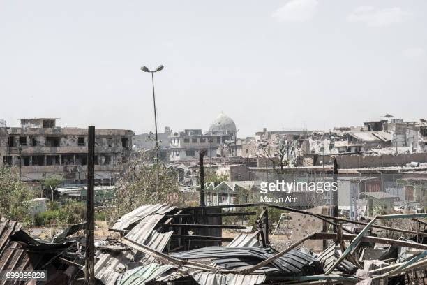 View of the Islamic State occupied alNouri mosque in the Old City of west Mosul the last area of the city under Islamic State control June 22 2017...