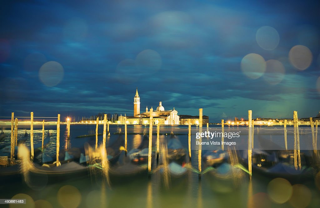 View of the Island of San Giorgio from St. Mark sq : Stock Photo