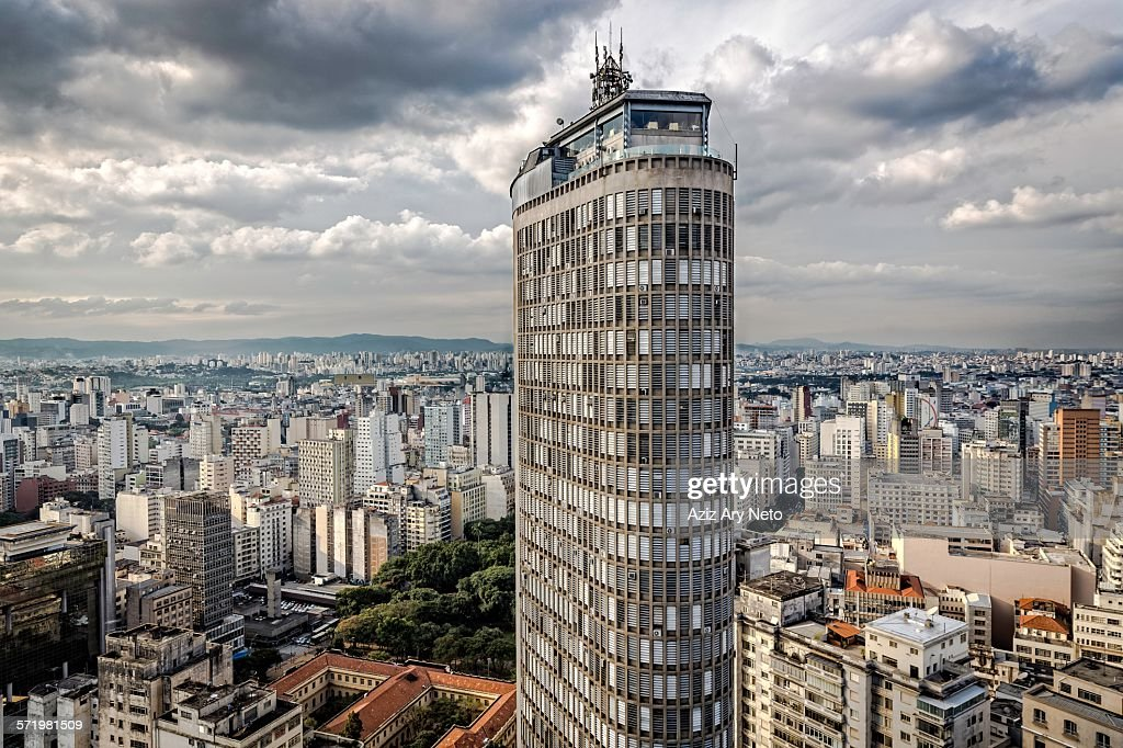 View of the Italy building above city skyscrapers, Sao Paulo, Brazil