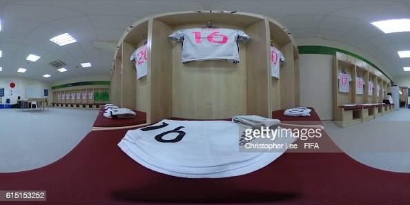 A 360 view of the Japan dressing room during the FIFA U17 Women's World Cup Jordan 2016 Semi Final match between Spain and Japan at King Abdullah II...