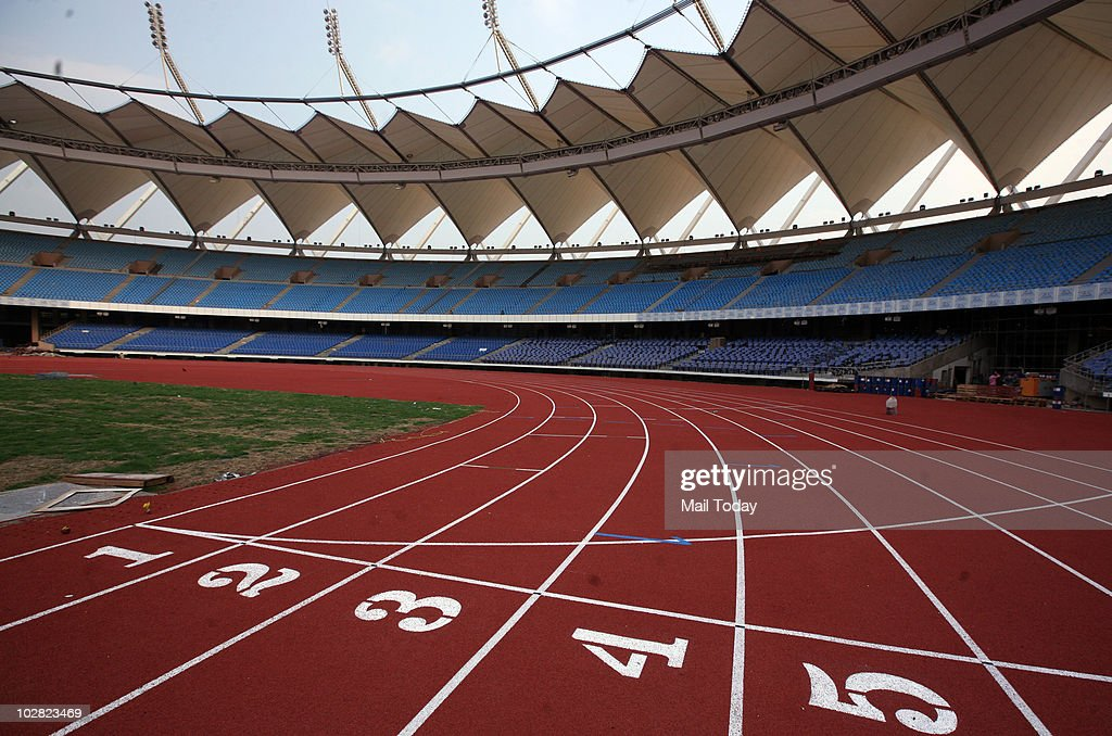A view of the Jawaharlal Nehru Stadium, which will host the opening and the closing ceremony for the Commonwealth Games in October this year, on July 8, 2010.