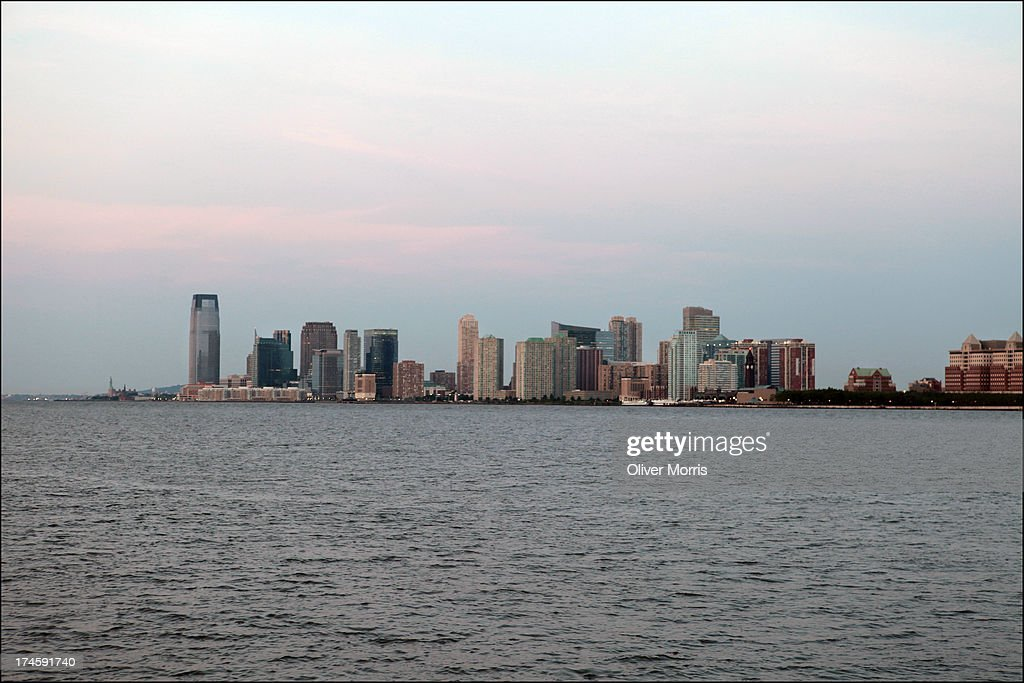 A view of the Jersey City skyline New Jersey June 22 2013 The Goldman Sachs Tower can be seen at left