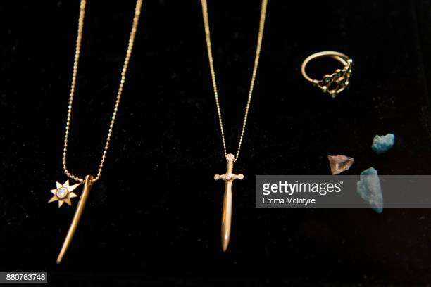 A view of the jewelry at 'Logan Hollowell | Marvel Thor Ragnarok Collection Dinner at MILK Studios LA' on October 12 2017 in Los Angeles California