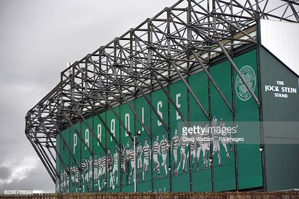 A view of the Jock Stein stand outside Celtic Park during the UEFA Champions League Group C match at Celtic Park Glasgow PRESS ASSOCIATION Photo...