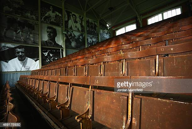 A view of the Johnny Haynes stand prior to the Sky Bet Championship match between Fulham and Wigan Athletic at Craven Cottage on April 10 2015 in...