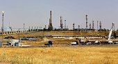 A view of the Kawergosk Refinery some 20 kilometres east of Arbil the capital of the autonomous Kurdish region of northern Iraq on July 14 2014 The...