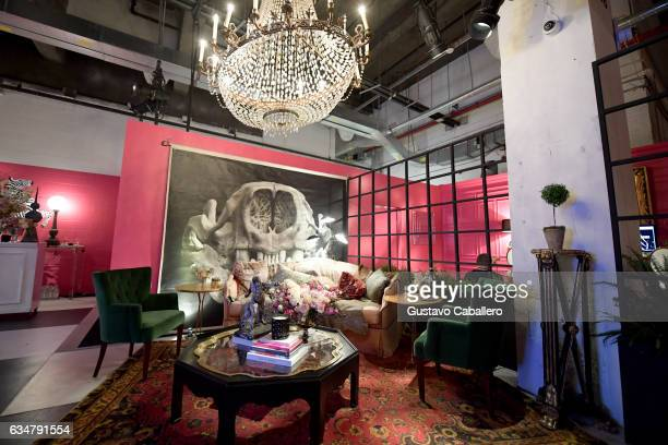 A view of the Ken Fulk Lounge during New York Fashion Week The Shows on February 11 2017 in New York City
