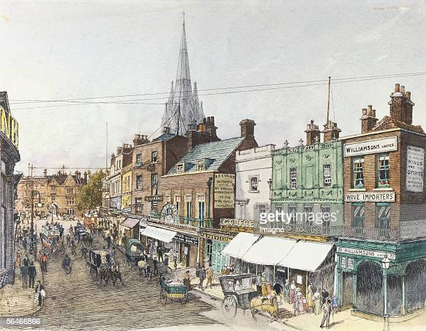View of the Kensington High Street in London 1898 [Ansicht der Kensington High Street in London 1898]