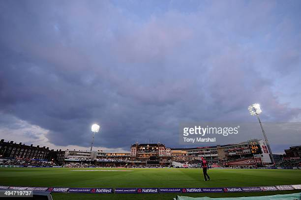 A view of The Kia Oval as Surrey play Middlesex Panthers during the NatWest T20 Blast match between Surrey and Middlesex Panthers at The Kia Oval on...