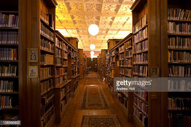 A view of the King's College Library, Cambridge. King's College Library has been in continuous existence since the foundation of the College in 1441. As well as preserving many rare book and manuscript treasures, the Library serves the current needs of und